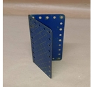Free Postage - Vintage Meccano - Hinged Plate - Blue with yellow cross hatch - Part 198