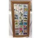 Framed Used Stamps Collection