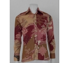 Lord & Taylor 90s Does 70s Floral Shirt Red & Tan Size: M
