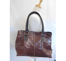 Boden Patent Leather Roomy Tote Bag Chocolate Brown Size: L