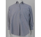 Jaeger Checkered Half Placket Shirt Blue and White Size: M