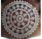 Vintage Style Circular Lace Crochet Table Protector