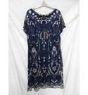 Phase Eight Dress Navy and silver Size: 16