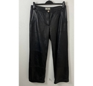 Jacques Saint Just High Rise Leather Trousers Black Size: S