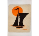 Sailboat mid-century, knotted, 1970s Tapestry.