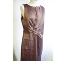 Planet Knee Length Dress & Jacket Shiny Brown Size: 14