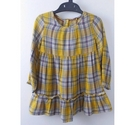 NWOT Marks & Spencer Dress Yellow Checked Size: 4 - 5 Years