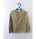 NWOT Marks & Spencer Long Sleeved Top Yellow Checked Size: 5 - 6 Years