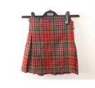 D. McArthur Wool Kilt Red Checked Size: 4 - 5 Years