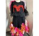 Devine Party Dress Black and Multi Size: Large