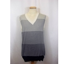 DKNY Men's DKNY cotton striped tank Cream/Blue Size: XL