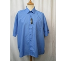 Russell Collection New Short Sleeve Oxford Shirt Blue Size: XL