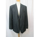 M&S Marks & Spencer Linen Mix Casual Jacket Navy Blue Size: XL