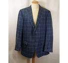 Faconnable chequed blazer jacket blue Size: One size: regular