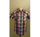 Soul Cal Short-Sleeved Checked Shirt Pink Size: S