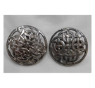 Large Vintage Celtic Knot Clip-on Earrings