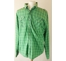 Laundered Deluxe Shirts Shirt Green Size: M