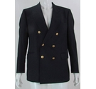 Daks Double Breasted Vintage 42R Wool Jacket Navy Blue Size: L
