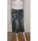 Aitianli Distressed Denim skirt Pale Blue Size: 6