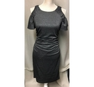 Adrianna Papell cold shoulder evening dress Silver-Black Size: 10