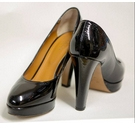 Hobbs Platform Court Shoe Black Size: 7