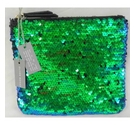 Oliver Bonas BNWT Bettle Midi Sequin Pouch Green Size: S