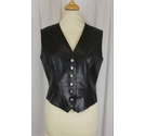 Agnes B Real Leather Waistcoat Black Size: XS