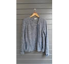 Wrap Zip up Cardigan Blue Marl Size: 18