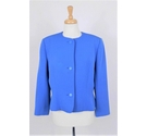 Hardy Amies Vintage Cropped Jacket Cobalt Blue Size: 14