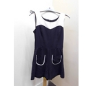 River Island Sleeveless playsuit black & cream Size: 8