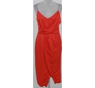 Talulah front wrap dress red Size: S
