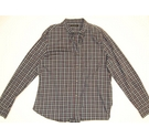 French Connection Plaid Shirt Blue Size: L