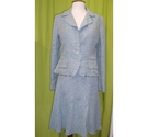 Kew Ladies skirt and jacket light blue Size: 12