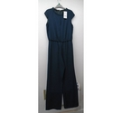 Zara cap sleeve evening jumpsuit Dark green Size: M