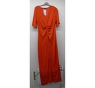 River Island maxi dress with twist front Orange Size: 12