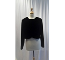 C&A Cropped Cardigan Black Size: 18
