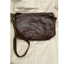 Brown leather cross body bag Soft leather handbag by Enny Brown Size: M