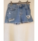 New Look Ripped Jean Shorts Blue Size: Age 14