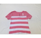 Abercrombie Kids short-sleeved top salmon & white Size: 9 - 10 Years