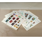 25 Pages of Butterfly, Flower and Bird World Stamps - Used Hinged
