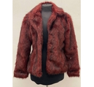 Candy Couture Faux Fur Jacket Red Size: 15 - 16 Years
