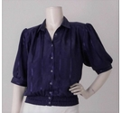 Canda Vintage 80s Puff Sleeve Blouse Purple Size: 12