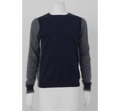 Guess Two Tone Wool Blend Jumper Navy & Grey Size: M