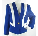 Jacques Vert wool mix jacket blue and white Size: 14