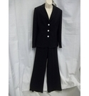 M&S Marks & Spencer Trouser Suit Navy Blue Size: 14