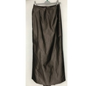 Monsoon Satin Cocktail Long Skirt Coffee Size: 12