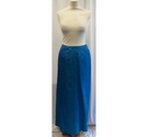 Monsoon Silk Maxi Skirt Blue Size: 10