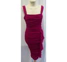 Phase Eight Ruched Dress Dark Pink Size: S
