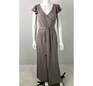 Et Vous Ruffled Sleeve Jumpsuit Fossil Grey Size: 12