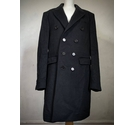 Burberry Wool Cashmere Tailored Coat in Black Size: L